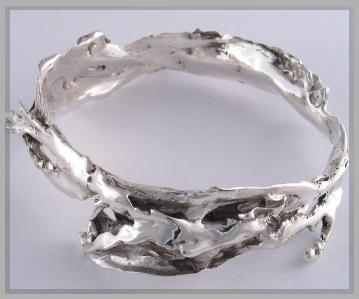 vicious seaweed sterling silver bangle