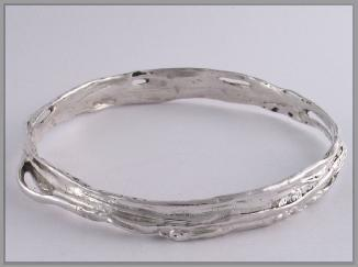 Slave bangle sterling silver  hooped 4