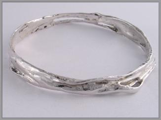 Slave bangle sterling silver hooped 3