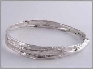 Slave bangle sterling silver hooped2