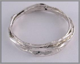 Blu-ray limpet sterling silver bangle 2