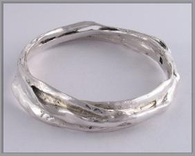 Blu-ray limpet sterling silver bangle 3